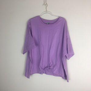 ASOS | Purple Crop Tie Front Top Size 20